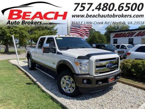 2016 Ford F-250 Super Duty for sale at Beach Auto Brokers in Norfolk VA