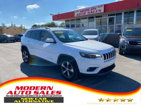 2019 Jeep Cherokee for sale at Modern Auto Sales in Hollywood FL