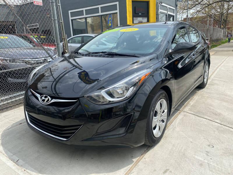 2016 Hyundai Elantra for sale at DEALS ON WHEELS in Newark NJ