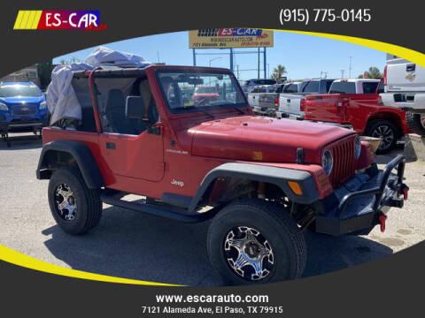 1998 Jeep Wrangler for sale at Escar Auto in El Paso TX