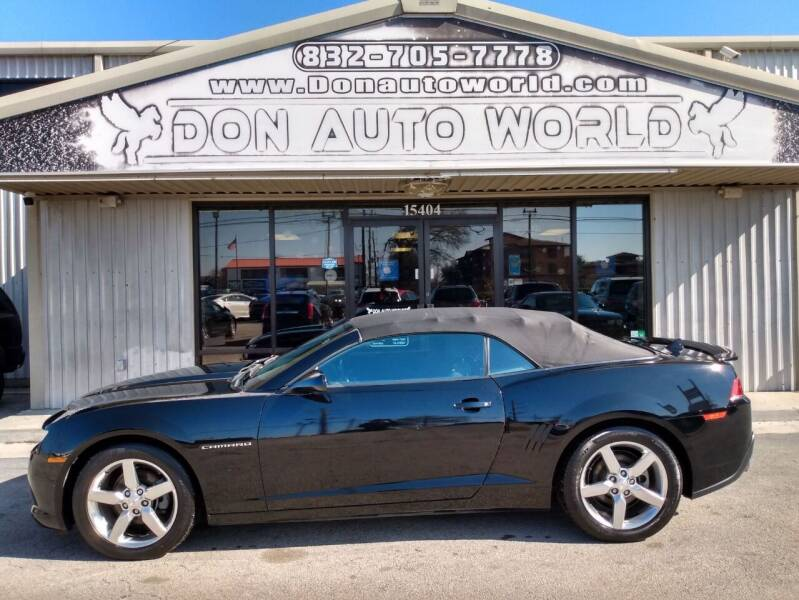2015 Chevrolet Camaro for sale at Don Auto World in Houston TX