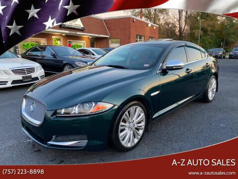 2012 Jaguar XF for sale at A-Z Auto Sales in Newport News VA