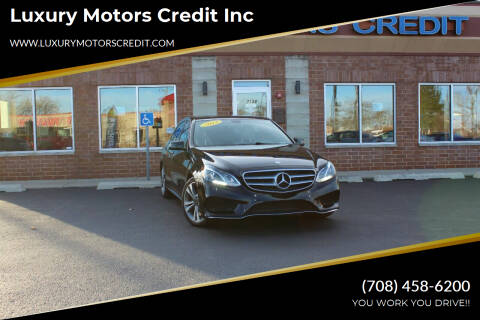 2014 Mercedes-Benz E-Class for sale at Luxury Motors Credit Inc in Bridgeview IL