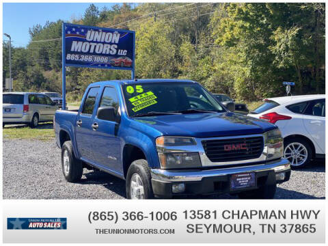 2005 GMC Canyon for sale at Union Motors in Seymour TN