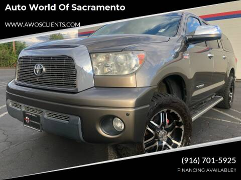 2008 Toyota Tundra for sale at Auto World of Sacramento Stockton Blvd in Sacramento CA