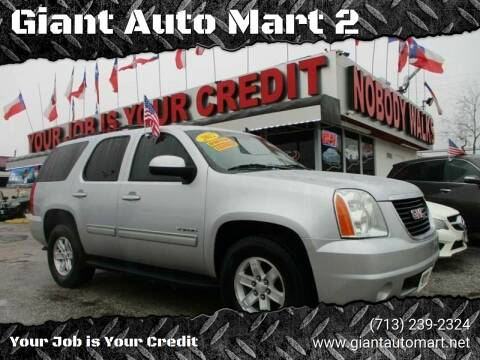 2012 GMC Yukon for sale at Giant Auto Mart 2 in Houston TX