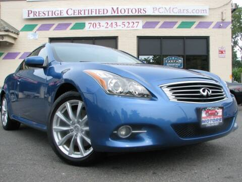 2012 Infiniti G37 Coupe for sale at Prestige Certified Motors in Falls Church VA
