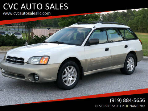 2000 Subaru Outback for sale at CVC AUTO SALES in Durham NC