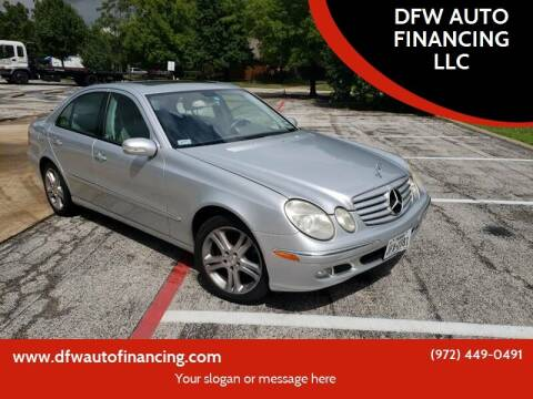 2006 Mercedes-Benz E-Class for sale at Bad Credit Call Fadi in Dallas TX