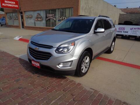 2016 Chevrolet Equinox for sale at Rediger Automotive in Milford NE