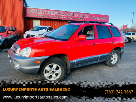 2005 Hyundai Santa Fe for sale at LUXURY IMPORTS AUTO SALES INC in North Branch MN