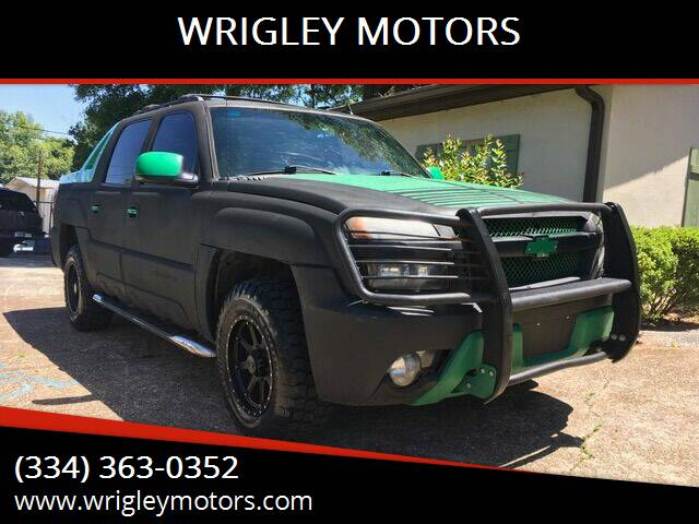 2006 Chevrolet Avalanche for sale at WRIGLEY MOTORS in Opelika AL