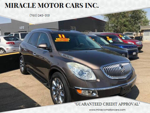 2011 Buick Enclave for sale at Miracle Motor Cars Inc. in Victorville CA