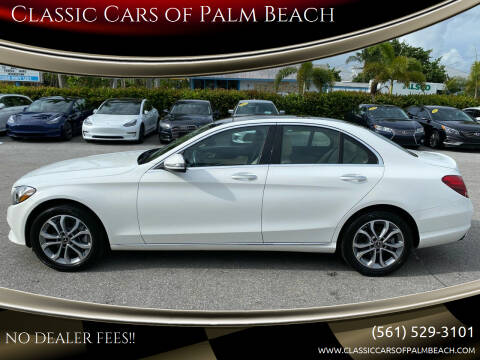 2018 Mercedes-Benz C-Class for sale at Classic Cars of Palm Beach in Jupiter FL
