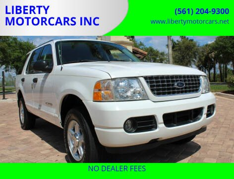 2004 Ford Explorer for sale at LIBERTY MOTORCARS INC in Royal Palm Beach FL