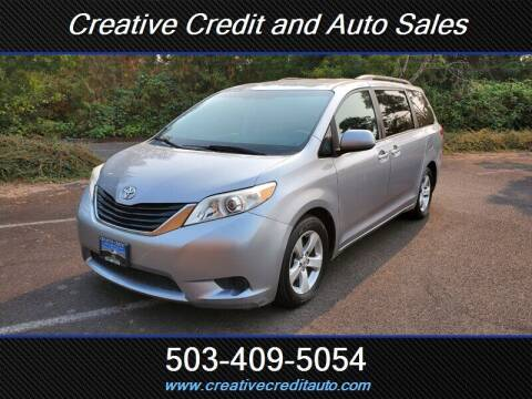 2011 Toyota Sienna for sale at Creative Credit & Auto Sales in Salem OR