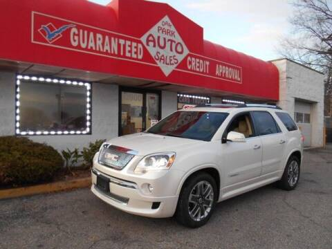 2012 GMC Acadia for sale at Oak Park Auto Sales in Oak Park MI