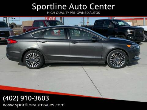 2017 Ford Fusion for sale at Sportline Auto Center in Columbus NE
