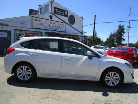 2016 Subaru Impreza for sale at G&R Auto Sales in Lynnwood WA