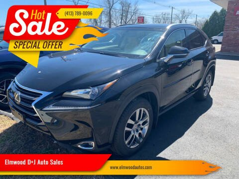 2016 Lexus NX 200t for sale at Elmwood D+J Auto Sales in Agawam MA