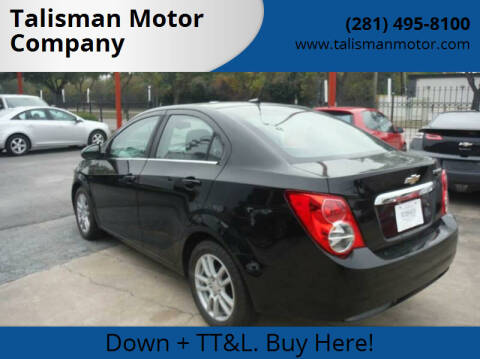 2012 Chevrolet Sonic for sale at Talisman Motor Company in Houston TX