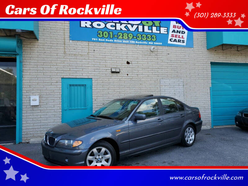 2002 BMW 3 Series for sale at Cars Of Rockville in Rockville MD