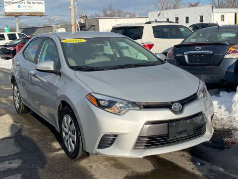 2016 Toyota Corolla for sale at MetroWest Auto Sales in Worcester MA
