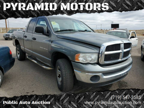 2005 Dodge Ram Pickup 1500 for sale at PYRAMID MOTORS - Pueblo Lot in Pueblo CO