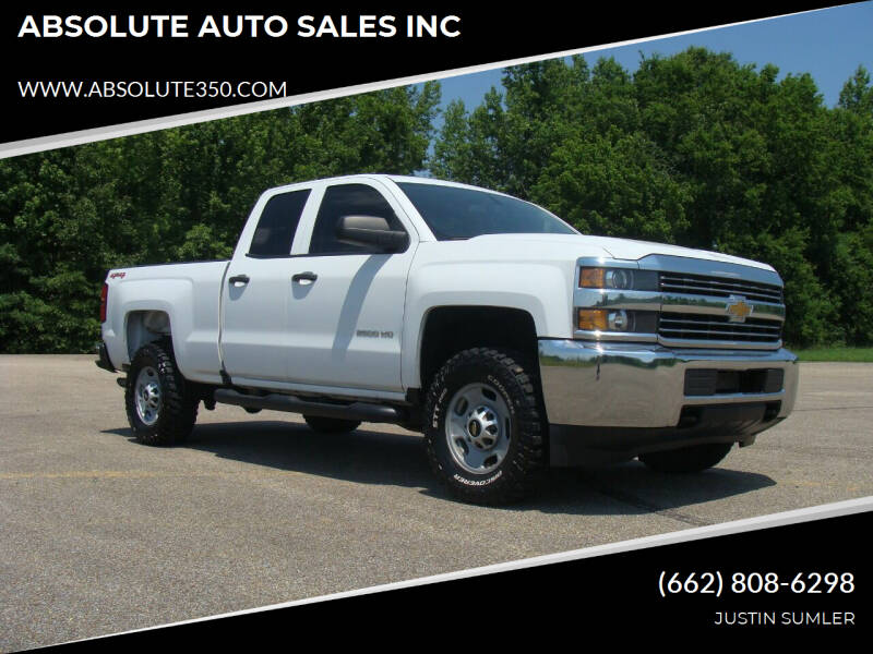 2017 Chevrolet Silverado 2500HD for sale at ABSOLUTE AUTO SALES INC in Corinth MS