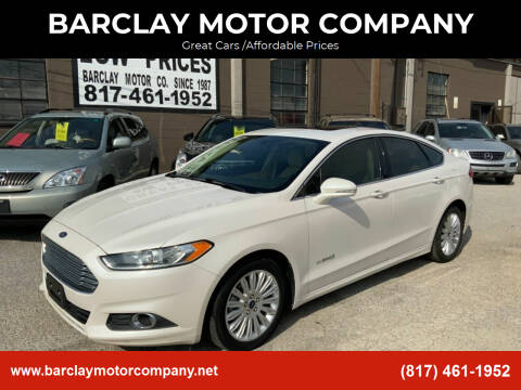 2014 Ford Fusion Hybrid for sale at BARCLAY MOTOR COMPANY in Arlington TX