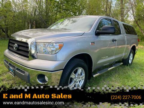 2008 Toyota Tundra for sale at E and M Auto Sales in Elgin IL