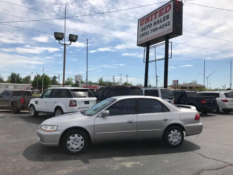 1998 Honda Accord for sale at United Auto Sales in Oklahoma City OK