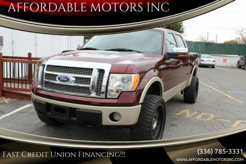 2010 Ford F-150 for sale at AFFORDABLE MOTORS INC in Winston Salem NC