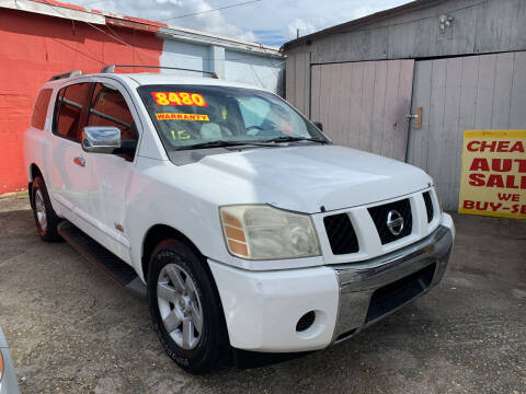 2007 Nissan Armada for sale at CHEAPIE AUTO SALES INC in Metairie LA