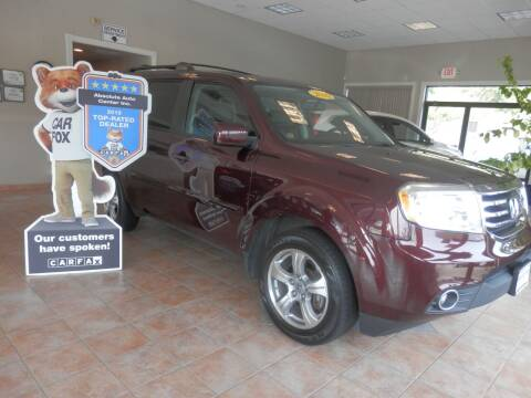 2015 Honda Pilot for sale at ABSOLUTE AUTO CENTER in Berlin CT
