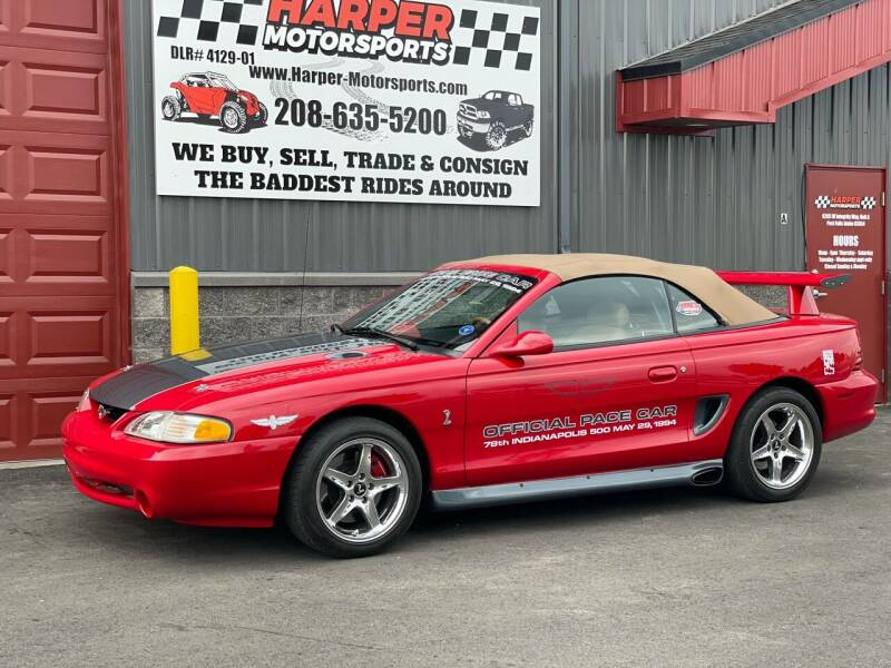 1994 Ford Mustang SVT Cobra for sale at Harper Motorsports-Vehicles in Post Falls ID