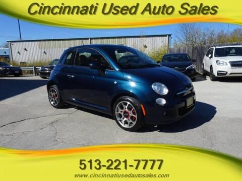2015 FIAT 500 for sale at Cincinnati Used Auto Sales in Cincinnati OH