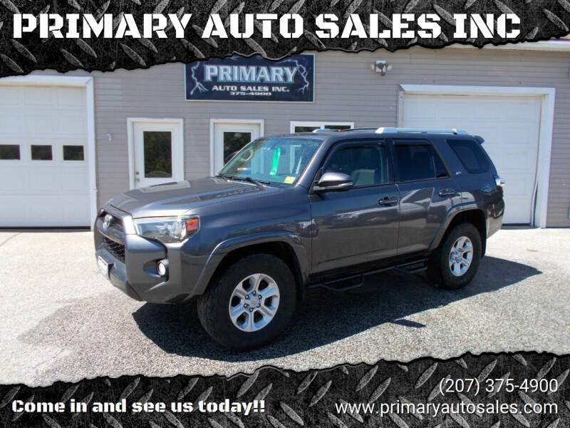 2015 Toyota 4Runner for sale at PRIMARY AUTO SALES INC in Sabattus ME