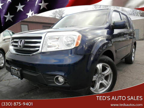 2013 Honda Pilot for sale at Ted's Auto Sales in Louisville OH