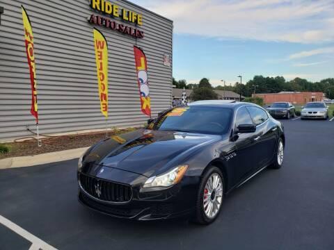 2014 Maserati Quattroporte for sale at Ride Life Auto Sales in Charlotte NC