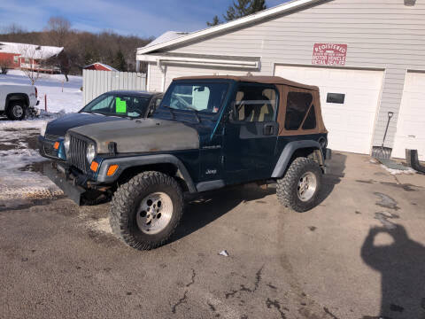 1997 Jeep Wrangler for sale at CENTRAL AUTO SALES LLC in Norwich NY