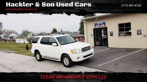 2001 Toyota Sequoia for sale at Hackler & Son Used Cars in Red Lion PA