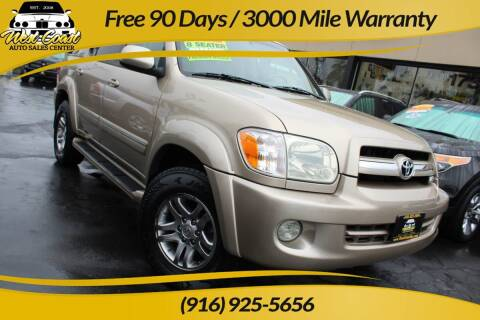 2006 Toyota Sequoia for sale at West Coast Auto Sales Center in Sacramento CA