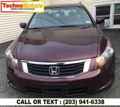 2009 Honda Accord for sale at Techno Motors in Danbury CT