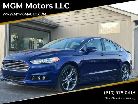 2013 Ford Fusion for sale at MGM Motors LLC in De Soto KS