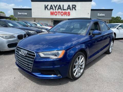 2016 Audi A3 for sale at KAYALAR MOTORS in Houston TX
