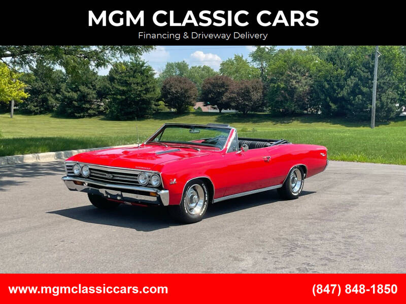 1967 Chevrolet Chevelle for sale at MGM CLASSIC CARS-New Arrivals in Addison IL