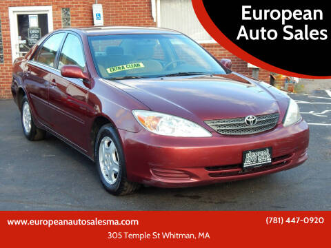 2002 Toyota Camry for sale at European Auto Sales in Whitman MA