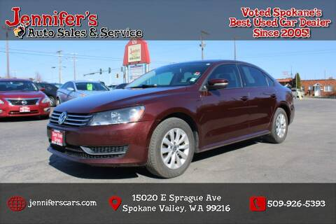 2013 Volkswagen Passat for sale at Jennifer's Auto Sales in Spokane Valley WA