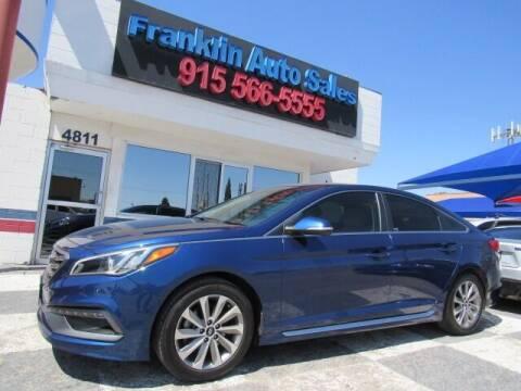 2016 Hyundai Sonata for sale at Franklin Auto Sales in El Paso TX